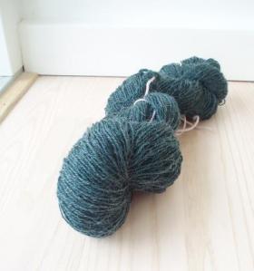 Teal sock yarn