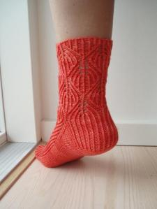 Back-view of pretty sock