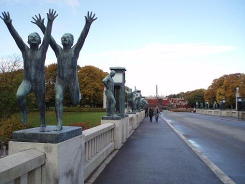 Bridge in Vigelands Sculptural Park
